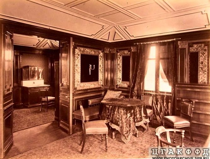 Another view of the study on the Russian Imperial Yacht 'Livadia'.