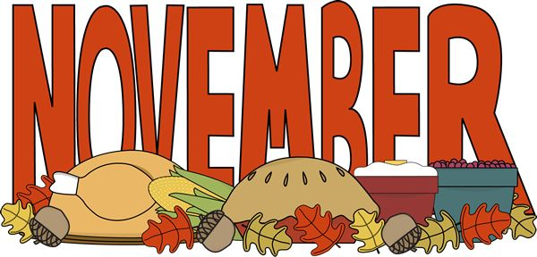 Month of November Thanksgiving Food Clip Art - Month of November ...