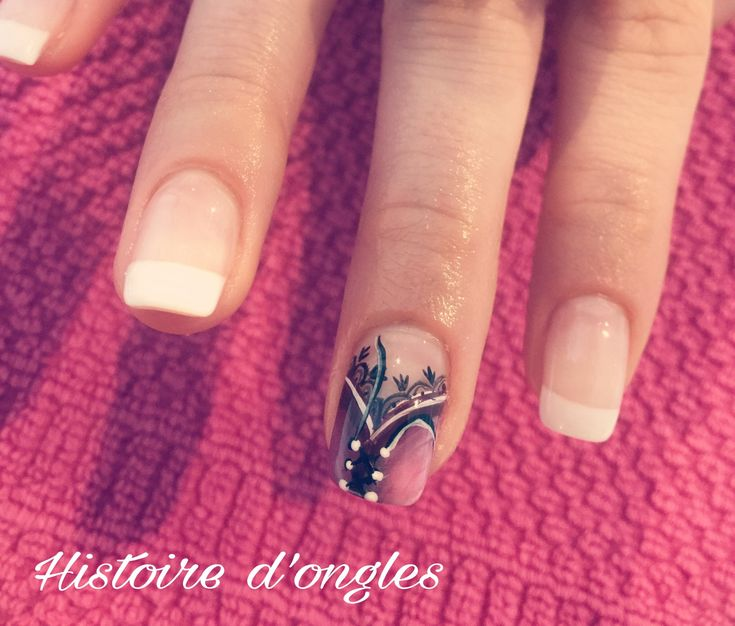 Nail art corsage histoire d'ongles