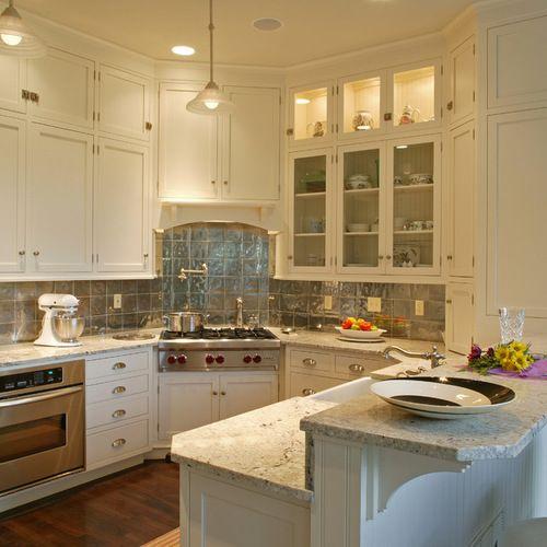 Best Corner Stove Kitchen Design Ideas & Remodel Pictures