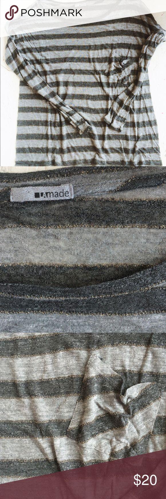 Lamade stripe metallic tee Super soft stripe long sleeve tee win metallic LAmade Tops Tees - Long Sleeve