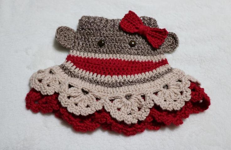 Sock Monkey Butt Skirt by Donelda's Creations