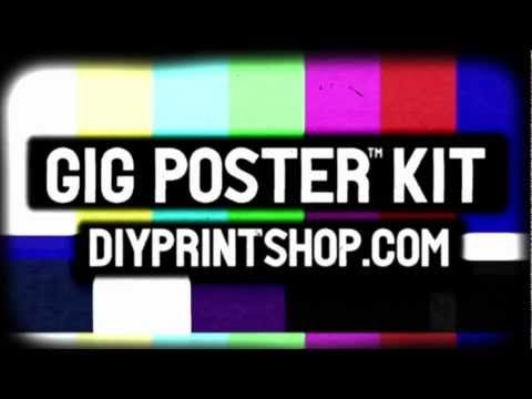 98 best diy kits screen printing images on pinterest arts and note the exposure light shown in this diy print shop gig poster screen printing kit video has since been changed to the more proficient solutioingenieria Gallery