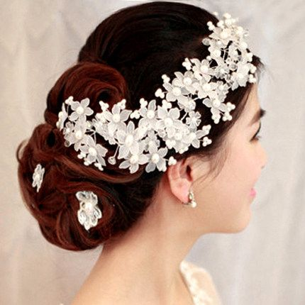 Find More Hair Jewelry Information about New Bridal flowers hair accessories handmade Crystal pearl hair  jewelry Korean style wedding hair jewelry for women B784,High Quality Hair Jewelry from The Sunny Day on Aliexpress.com