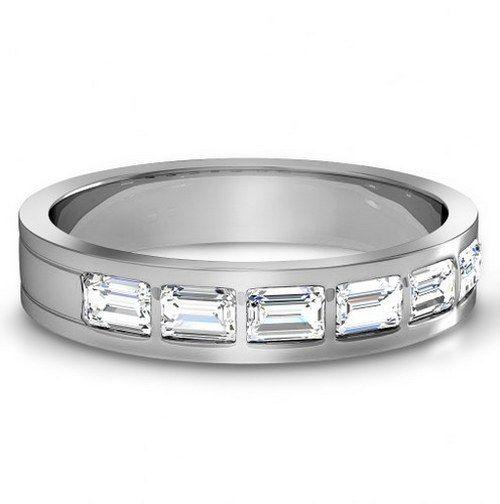 Diamond Cut Wedding Bands For Men
