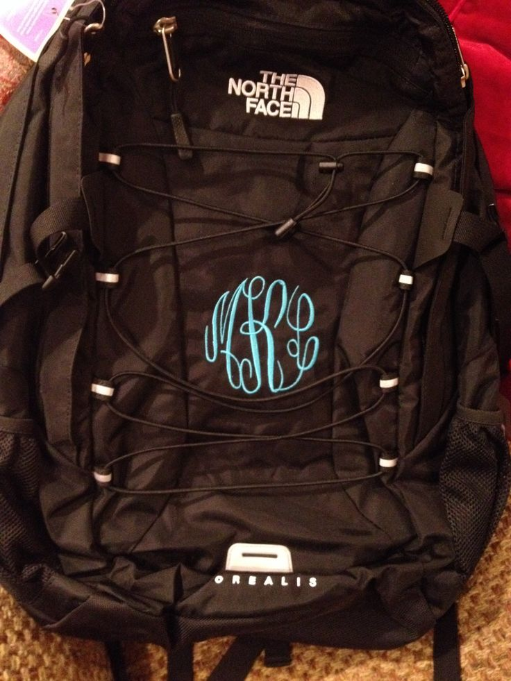 Monogrammed Northface Backpack Backpacks Bags