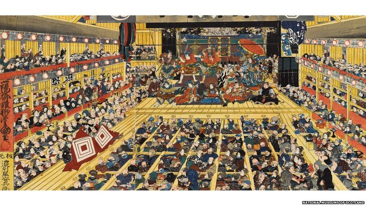 A new exhibition at the National Museums of Scotland is highlighting its collection of Kabuki, the popular form of traditional, all-male, Ja...