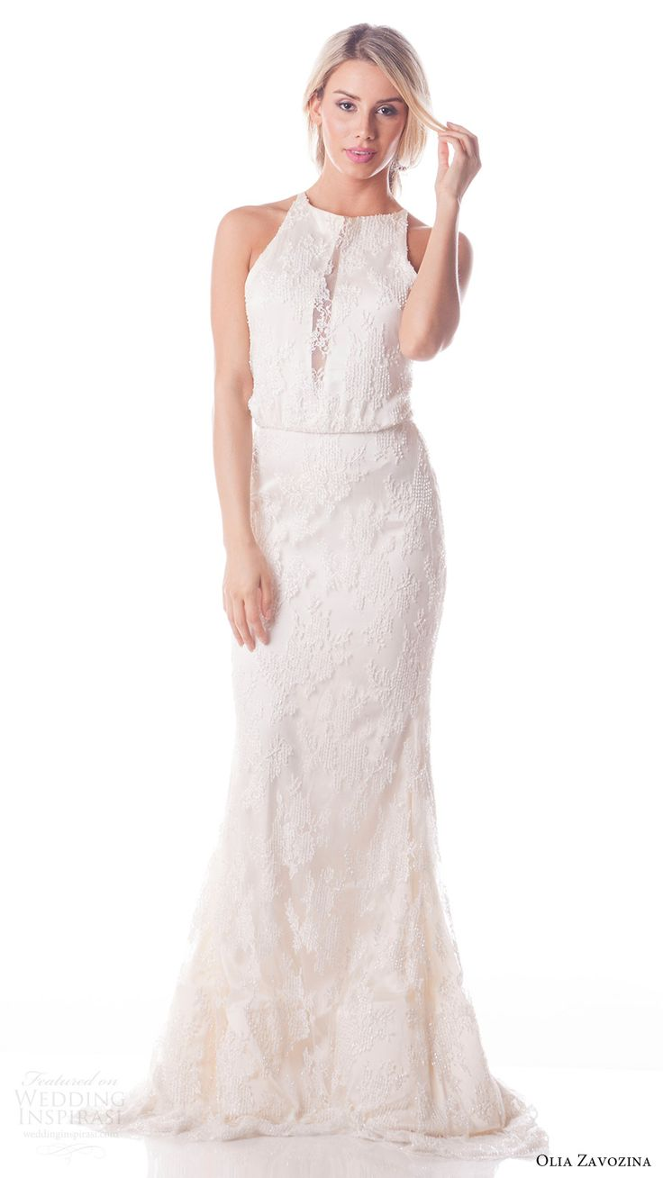 Grey mermaid wedding dress  Noel A soft tulle Fit and Flare gown including a peekaboo