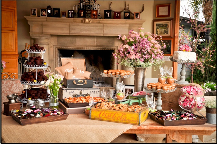 I Like The Idea Of A Dessert Table Or Finger Food Table