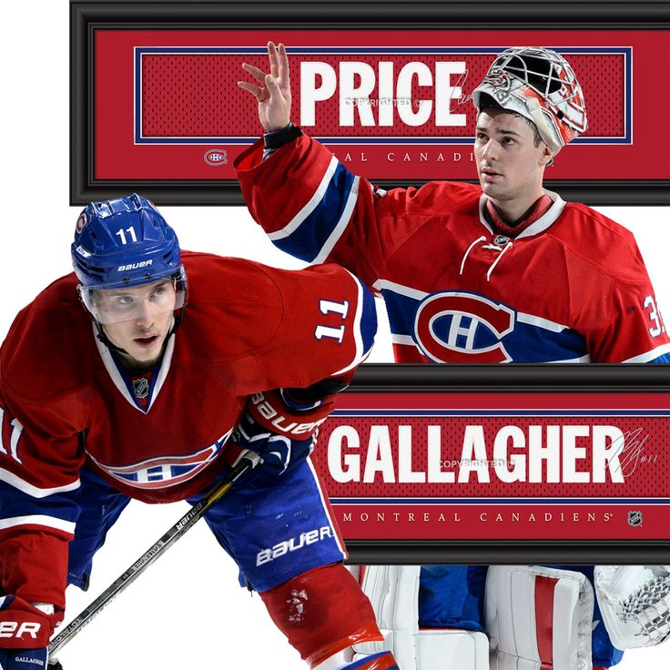 Canadiens Dynamic Duo - Price & Gallagher • get your framed signature Jersey Name Print from NHLTrunk.com