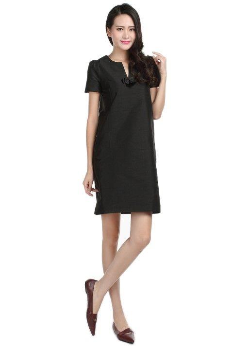 Dress LAFAYETTE Black licorice - EmKha