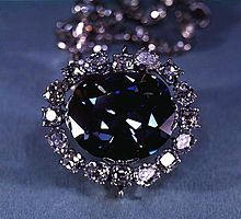 The Hope Diamond, which was cut from the Royal French Blue, part of the French Crown Jewels. French Crown Jewels - Wikipedia, the free encyclopedia