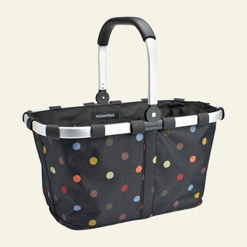 carry bag reisenthel germany collapsible bag or market basket polkadot by reisenthel. Black Bedroom Furniture Sets. Home Design Ideas