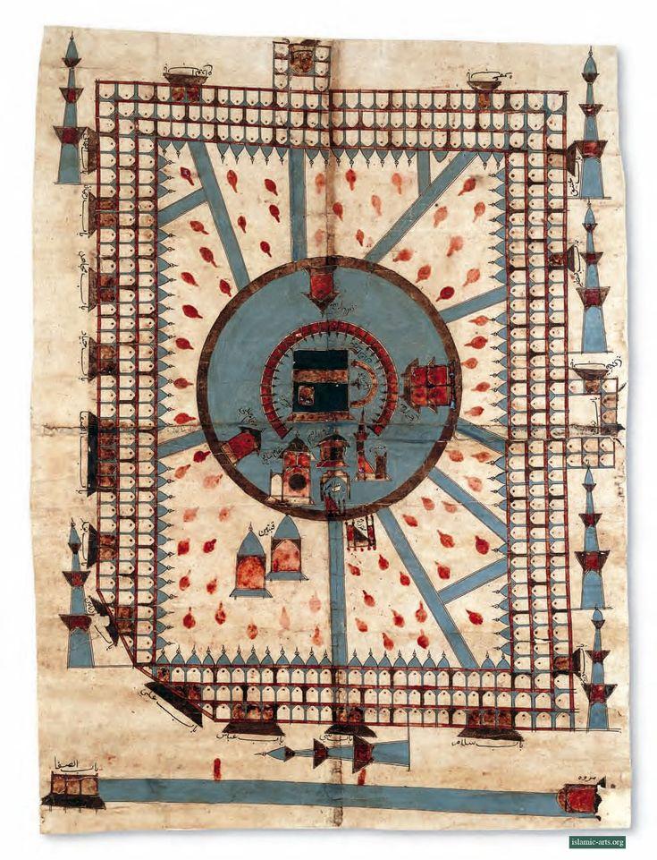 Kaaba-Map of the Masjid al-Haram. Probably the Hijaz (Arabia), 18th century.