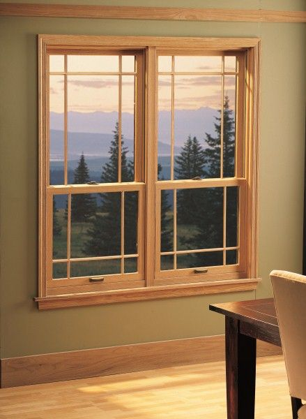 Wood Interior Double Hung Windows With Modified Prairie