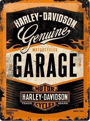 Harley-Davidson-Metal-sign-Garage
