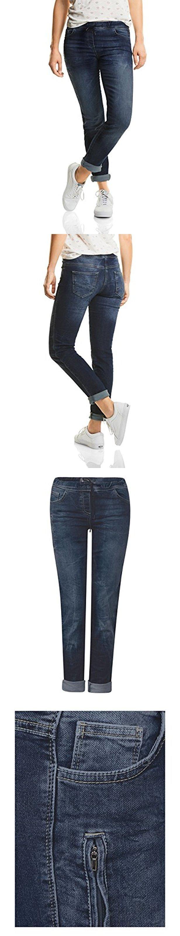 Cecil Damen Jeans 370941 Scarlett Heavy Washed Jogg Stye Loose Fit Denim