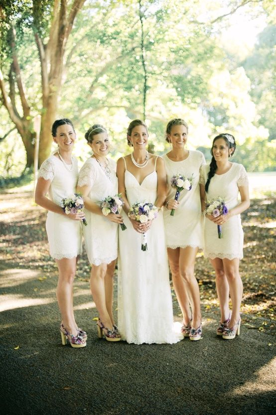 Fancy Lace Ivory Bridesmaids Dresses oh Thats it I found my bridesmaids dresses