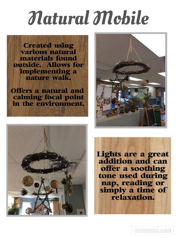Trillium Child Care Centre: natural mobile hung in the Toddler Room!