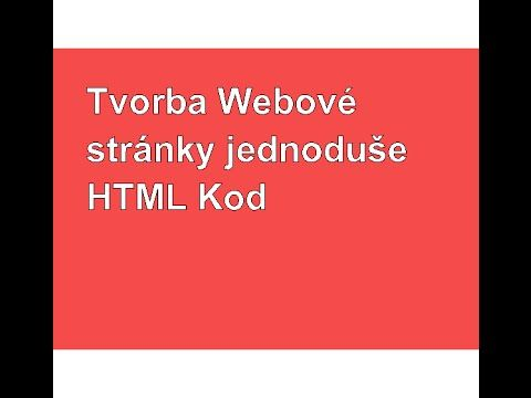 Jak na web? 1 díl html kod
