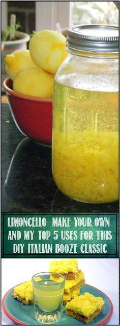 Limoncello and the TOP 5 Ways to Use Limoncello. You CAN DO THIS! Easy to follow recipe for making home hooch... BUT WAIT, there's more, the link also includes recipes and suggestions for my TOP 5 USES for LIMONCELLO!