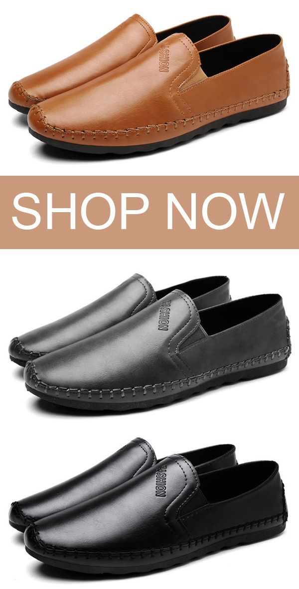 21b5fe01f00 US 31.25 Men Hand Stitching Soft Flat Slip On Leather Loafers shoes  style