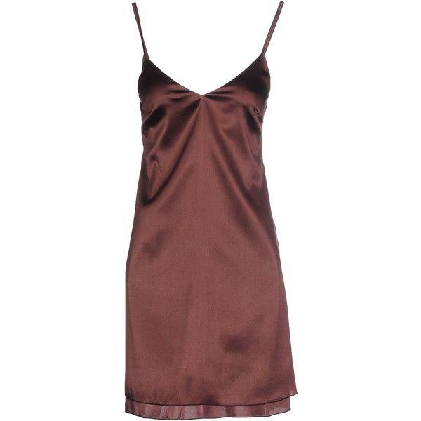 Carla G. Short Dress ($49) ❤ liked on Polyvore featuring dresses, deep purple, sleeveless short dress, sleeveless dress, mini dress, no sleeve dress and short dresses