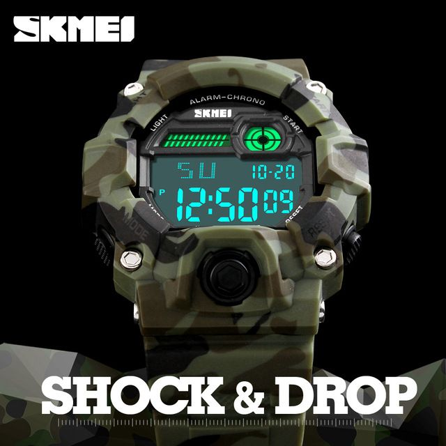 Special offer 2017 SKMEI S Shock Watch Men Outdoor Army Camouflage Military Watch Digital Watches LED Display Fashion Male Sport Mens Watches just only $10.99 with free shipping worldwide  #menwatches Plese click on picture to see our special price for you