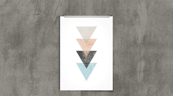 O poster grátis dessa semana veio todo trabalhado no minimalismo. Tá precisado de um poster de triângulos pra sua paredinha? Baixa aqui de graça, vem!
