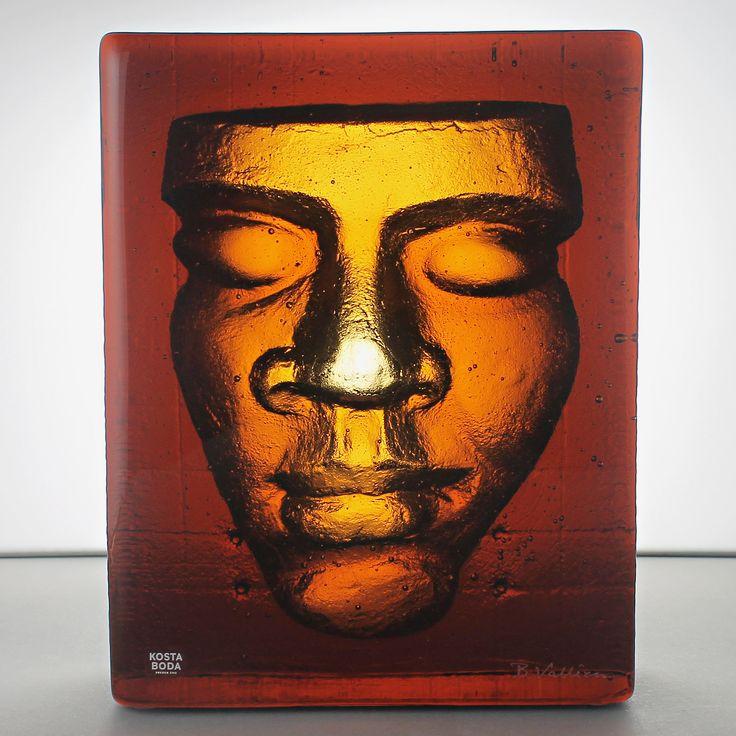 Bertil Vallien (Boheme) Fascinating Amber Glass Sculpture