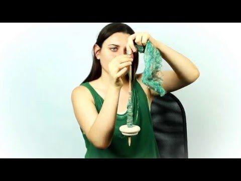 Прядение на веретене - YouTube