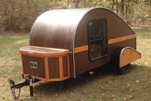 A guy in my home town makes these replica Teardrop campers and miniature Teardrop motorcycle pull-behinds.  Just cool.