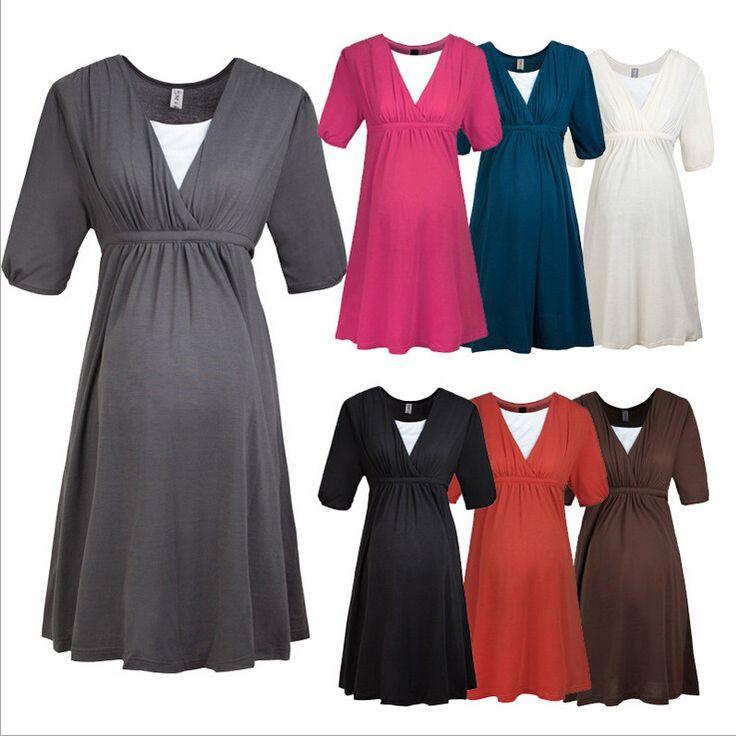 Vêtements de maternité Confortable Coton Soins Infirmiers Allaitement Vêtements Robe pour Les Femmes Enceintes D'été Grossesse Robe Vêtements 2016 dans Robes de Produits pour bébés sur AliExpress.com | Alibaba Group
