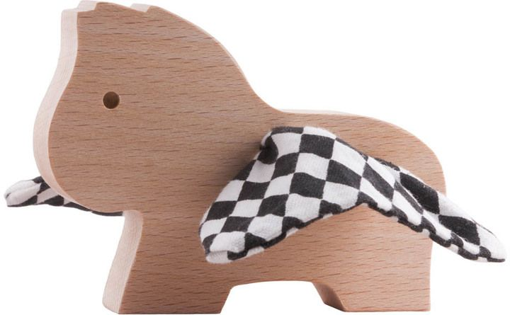 PAULETTE ET SACHA Pegasus Checkboard Wooden Figurine