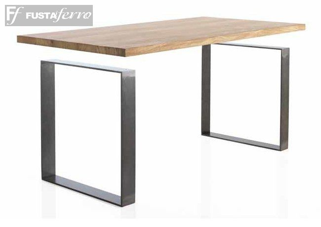 Mesa de comedor modelo Roma de Roble y Forja. www.fustaiferro.com https://fustaiferro.wordpress.com/