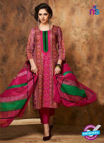 Rivaa 207B - Pink Color Cotton Designer Suit
