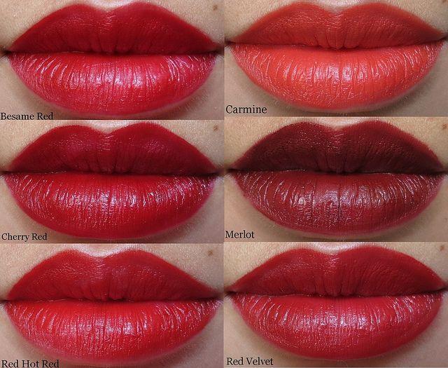 Busque su lápiz labial rojo perfecto con Besame barras de labios