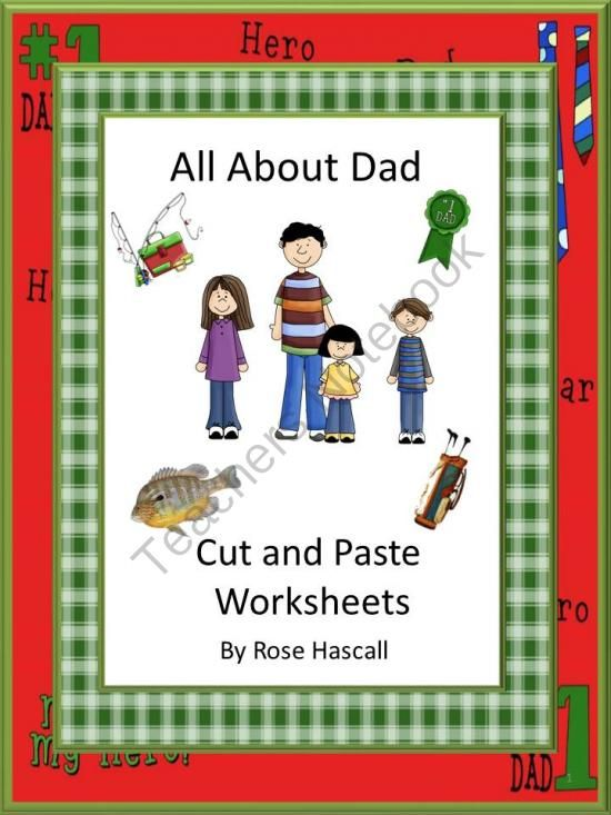 all about dad cut and paste worksheet set from smalltowngiggles on 28. Black Bedroom Furniture Sets. Home Design Ideas