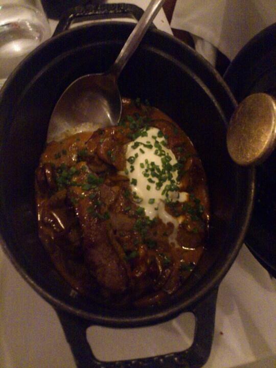 A classic beef Stroganoff @ Brødrene Price, Copenhagen