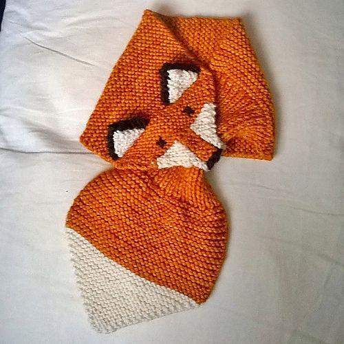 Idées tricot écharpe feuille/renard / Cute knitting