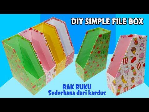 Diy Simple File Box Rak Buku Sederhana Dari Kardus Bekas Kerajinan Tangan Dari Barang Bekas Youtube Kardus Rak Buku Buku