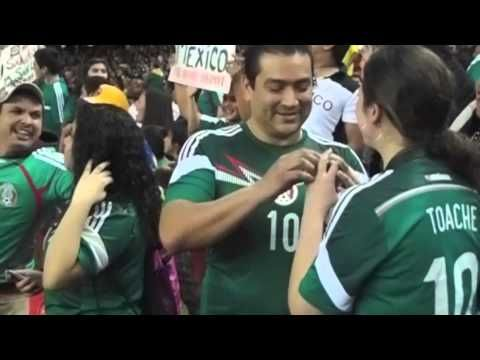 Proposal at the Georgia dome Mexico Vs Nigeria
