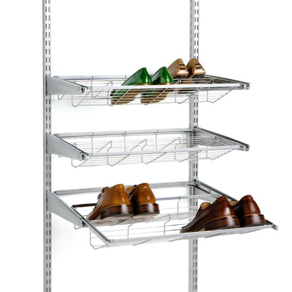 Elfa gliding shoe shelves...I may need to invest in some of these