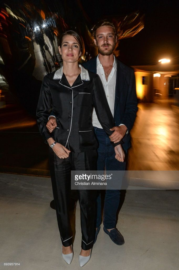 Charlotte Casiraghi and Pierre Casiraghi attend the 'Les Rencontres Philosophiques' at Musee Oceanographique on June 8, 2017 in Monaco, Monaco.