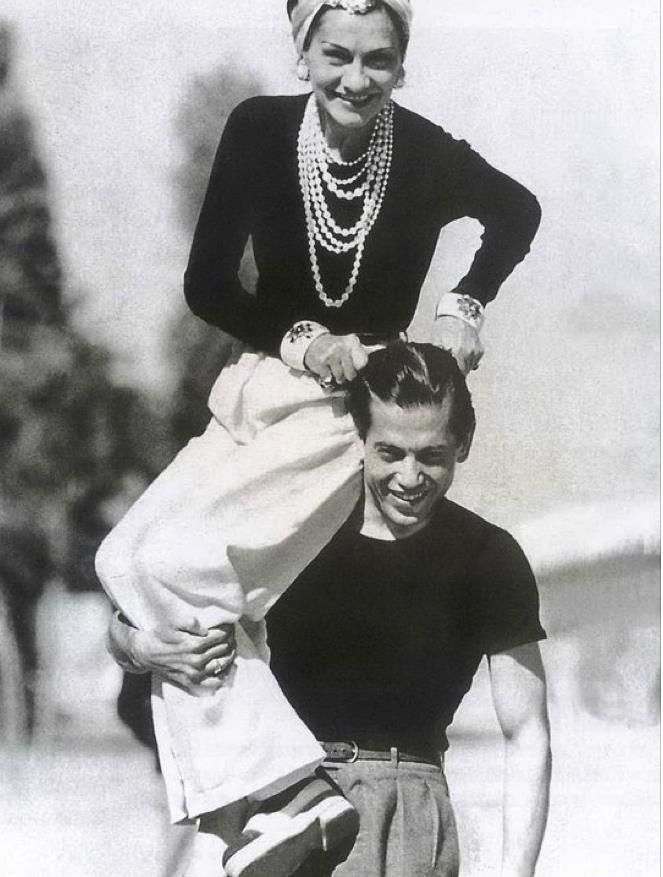 "Coco Chanel with her bf, Captain Arthur Edward ""Boy"" Capel. In 1971 ..."