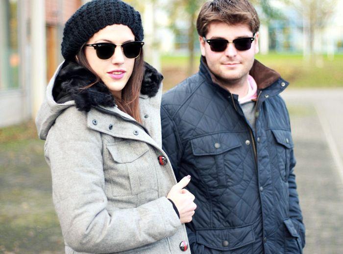 Modeblog Winteroutfit grau blau
