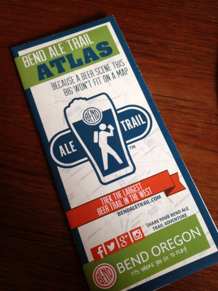 The Bend Ale Trail map has a