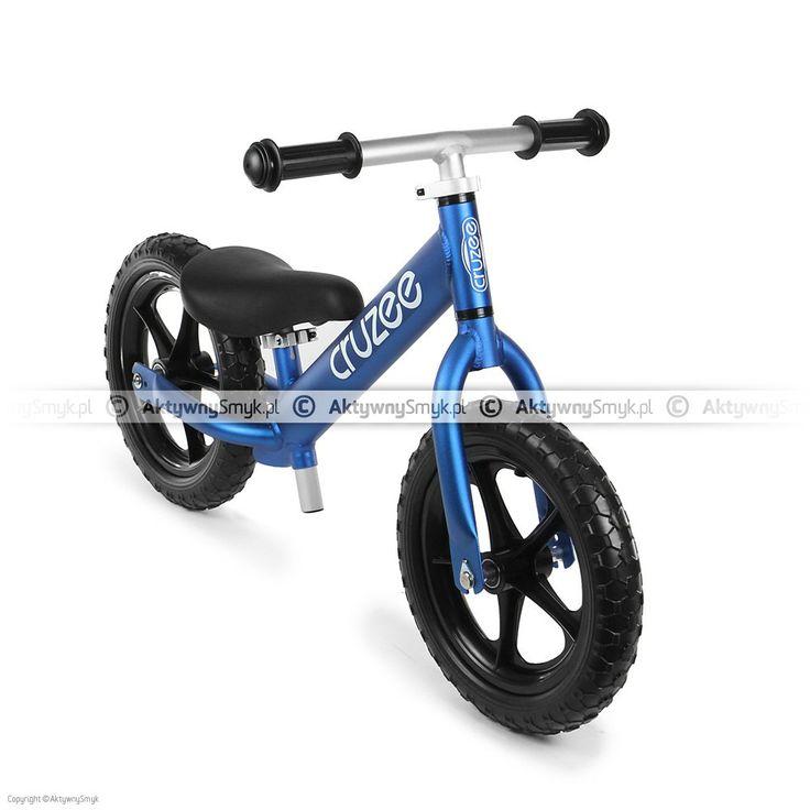Lekki rowerek biegowy Cruzee 12 niebieski