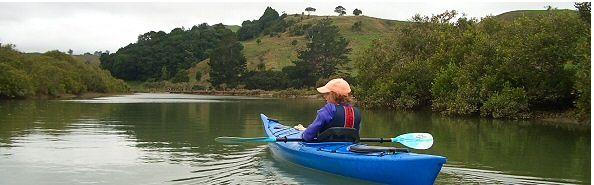 Kayaking on Puhoi River, New Zealand