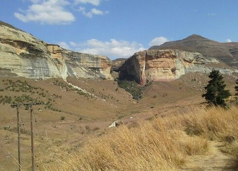 Mountains in Golden Gate, Free State, South Africa.